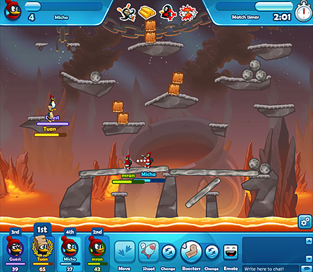 image of Crazy Penguin Wars battlefield screenshot
