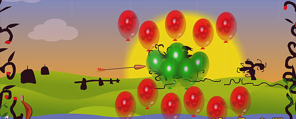 image of Cursed Baloons: gameplay
