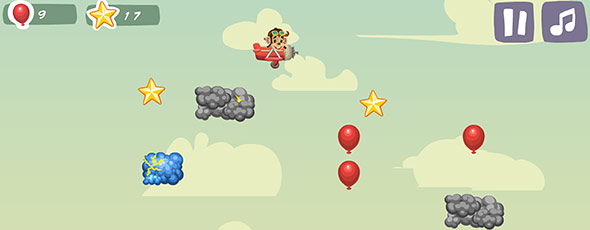 image of Tommy the monkey pilot: game scene