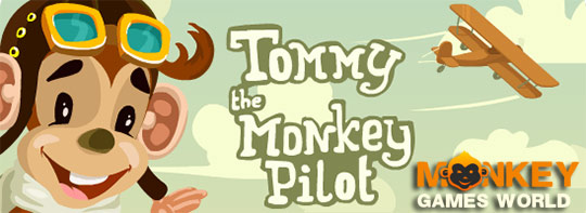 image of Tommy the monkey pilot: game poster