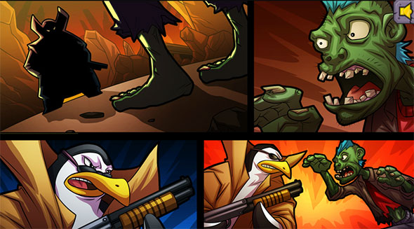 image of Zombies vs Penguins 3: cool artwork in intro