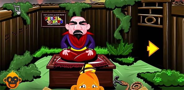 image of monkey go happy ninjas: screenshot from the game